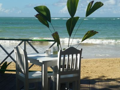 Enjoy a quiet meal on the beach