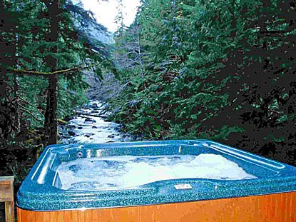 Total seclusion, 50 acres riverfront mountain cabin, hot tub