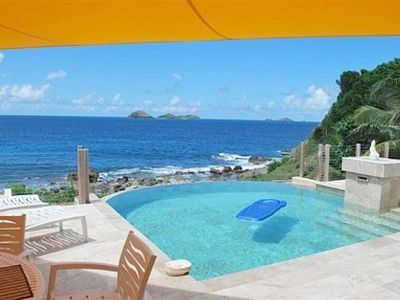 St Barthelemy villa rental - Wow ! what a view and very private too !