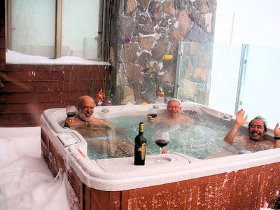 Enjoy a Hot Tub with a glass of great Chilean wine