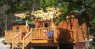 Berkeley Springs cabin photo - Only two of you? Rent for less our new 1BR Log Cabin. Inquire about details.