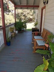 Monterey house photo - Open and sunny front porch with fabulous views of the property.