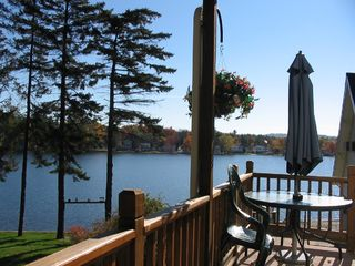 Lake Winnisquam condo photo - Top of the Stairs of your 2nd Floor Private wrap around Deck