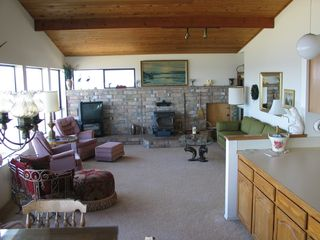 Sequim house photo - Living Room w Wood Stove