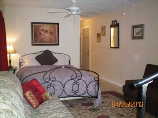 Galveston cottage photo - Downstairs great room, queen size bed, and sofa sleeper. Also a convertable sofa