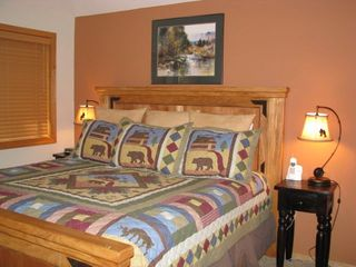 Sunriver house photo - Main level master suite with private bath opens directly to deck.
