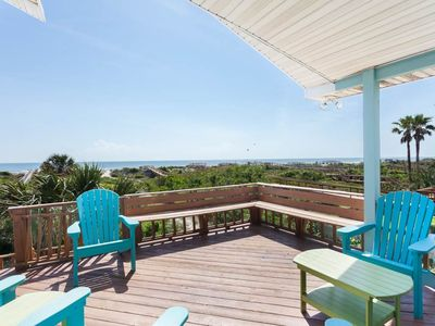 The 2nd floor waraparound deck with sweeping ocean views - Magnificent views are yours any time of day or night on this oceanfront deck, one of four at Rising Sun!