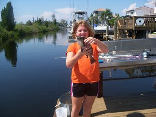 Hudson house photo - Great fishing off the 32 ft floating dock!!!