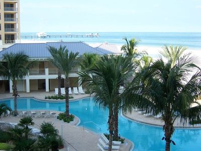 Clearwater Beach condo rental - Fabulous pool area, complete with poolside bar and restaurant