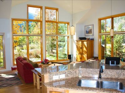 The view you'll enjoy while staying at Frisco Cedar Cabin
