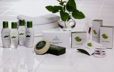 Complimentary Shampoo & Soap Amenities from Garden Botanika