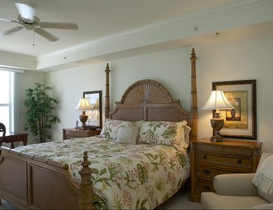 Oceanfront Master Bedroom #1 - Tommy Bahama King Bed and decor-HD TV/DVD