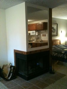Snowshoe Mountain condo rental - Fireplace