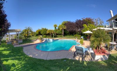 La Costa house rental - Amazing backyard with Pool, Spa, waterfall, gazebo, bar and fireplace!