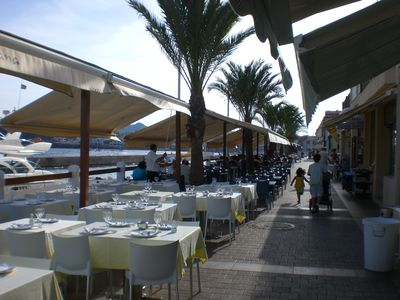 Cabo de Palos, fishing harbour with lots of bars/restaurants (10 min drive)