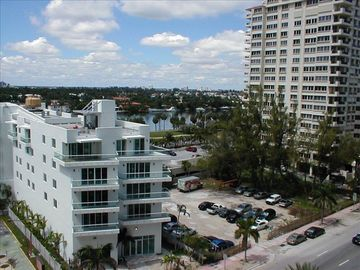 City and intracoastal panoramic views from window