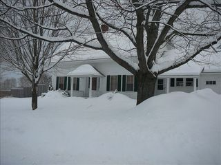 Wilmington house photo - Lots of snow on 11 acres with access to the VAST trail
