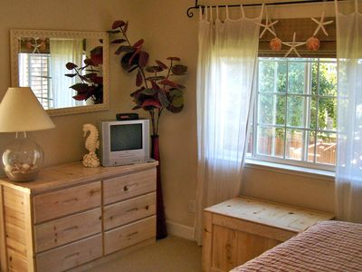 Santa Cruz house rental - Master Bedroom with peak of the ocean