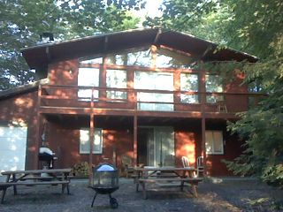 Tobyhanna house photo - Closer View of Front of Home/Picnic tables and Grill
