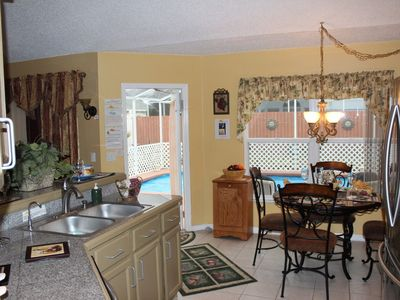 Kitchen Area overlooking the pool