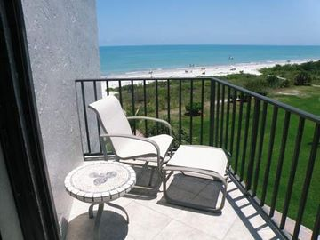 A second 'open air' sunny balcony also has both gulf and pool views!