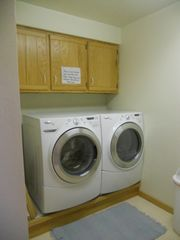 Jacksonport house photo - Huge Washer & Dryer in the Half Bath just off the Rec Room