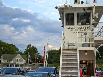 The Shelter Island North Ferry.