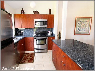 Kitchen from unit 23D Ekahi Village, One Bed-One Bath, Ocean View