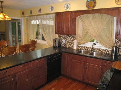 Recently renovated kitchen is fully equipped with everything you need