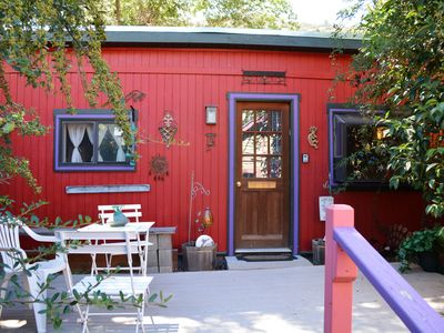 Little Red House Studio with large private patio