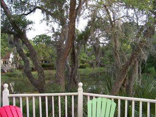 Seabrook Island house photo - View of tidal marsh from rear deck