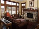 Living Area - Spectacular Views, Wood Fireplace, TV, Sleeper Sofa - Beaver Creek townhome vacation rental photo