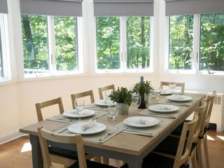 Woodstock house photo - Dining Room - Seating for 8 with nature views from every window