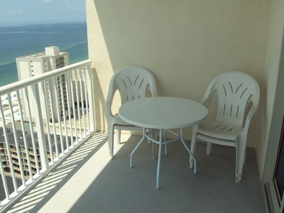 There is plenty of balcony seating on your vacation at Crystal Towers!!!