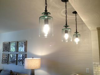 Kiawah Island villa photo - pendant lighting over the bar and seating for four
