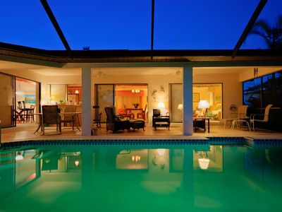 Large heated pool with comfortable lanai. You will never want to leave.