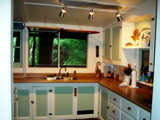Seven Springs cabin photo - Kitchen with camp style swing open windows