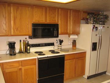 Kitchen view - fully furnished, just bring food.