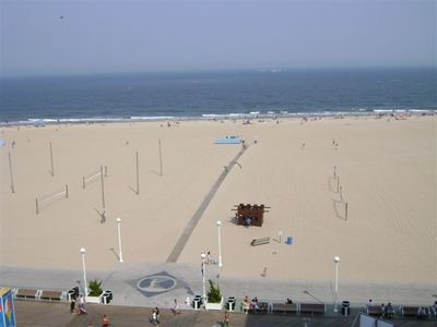 View of Beach and Boardwalk from your living room!