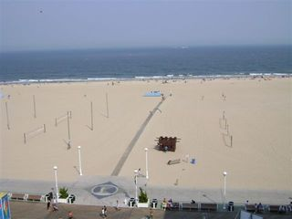 Belmont Towers Ocean City condo photo - View of Beach and Boardwalk from your living room!