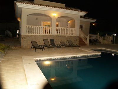 El Campello villa rental - Four Bedroom White Villa at night... so peacefull
