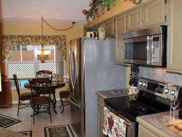 Fully equipped kitchen with brand new stainless steel appliances