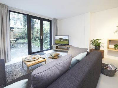 livingroom with view of garden