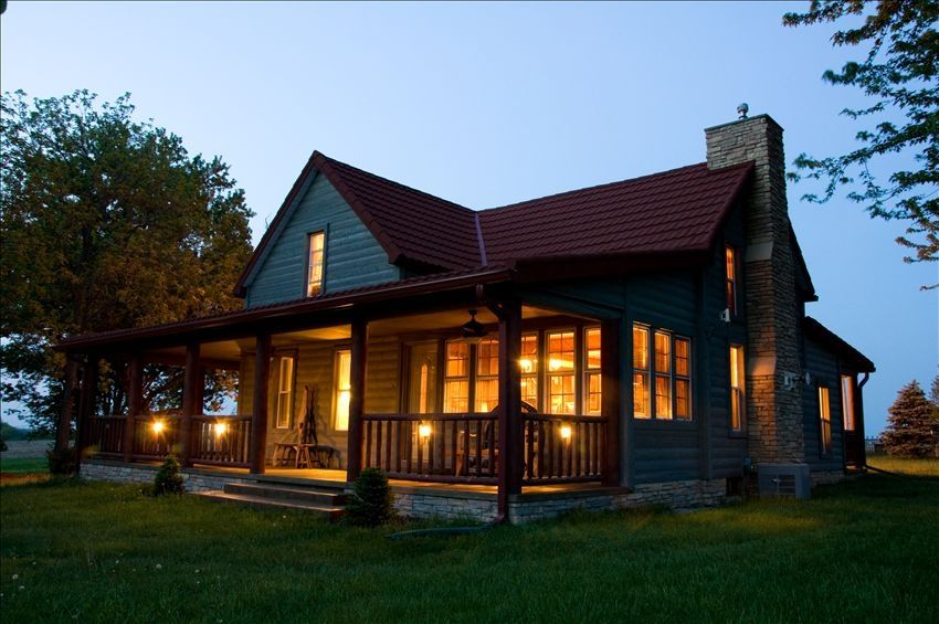 Need help finding holiday rentals live the destination for Full wrap around porch log homes