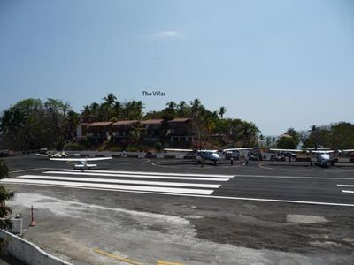 Contadora Villas - as viewed from opposite side of airport runway