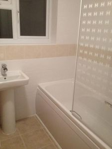 Poole house rental - New Bath/Shower Room