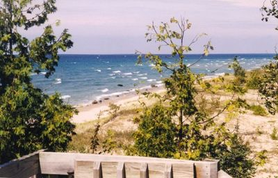 View of Sand Dunes, Beach and Lake Michigan from Upper Deck