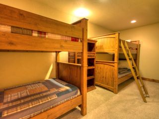 Big Sky house photo - Bunkroom with 4 twin beds and adjacent 3/4 bath