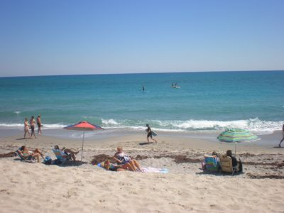Beautiful Jupiter beach within 8-10 minute walk or