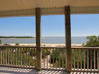 Gulf-front, 1/4 mile from boat ramp, screened porch, sun deck